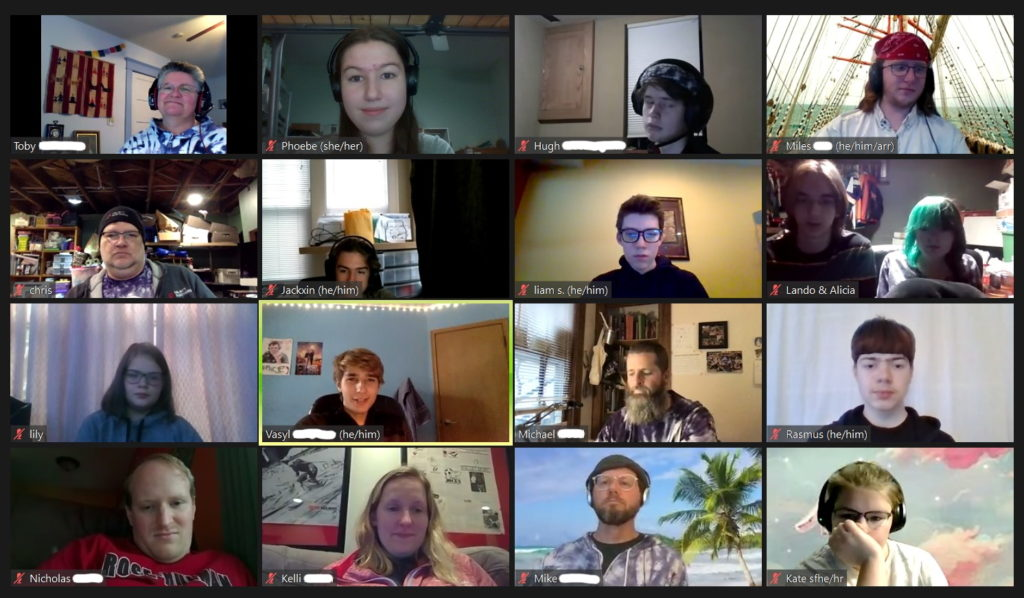 Picture of people in a zoom meeting